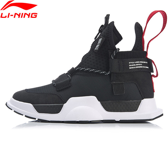 Li-Ning Unisex REBURN WS Basketball Leisure Shoes Wearable High-Cut CHINA LiNing Sport Shoes Sneakers AGBP028 XYL233