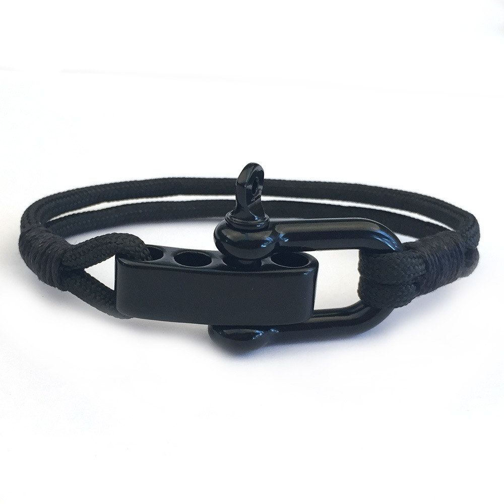 23CM Adjustable Survival Paracord Bracelets Men Stainless Stee Buckle Emergency Rope Outdoor Camping Hiking Wristband Bracelets