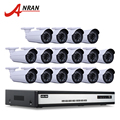 Onvif 16CH H.264 Sistema de Vigilancia de Vídeo NVR 6 TB HDD 1080 P 2MP CMOS HD 25fps 36 IR Impermeable cámara de Seguridad CCTV Cámara de Red IP
