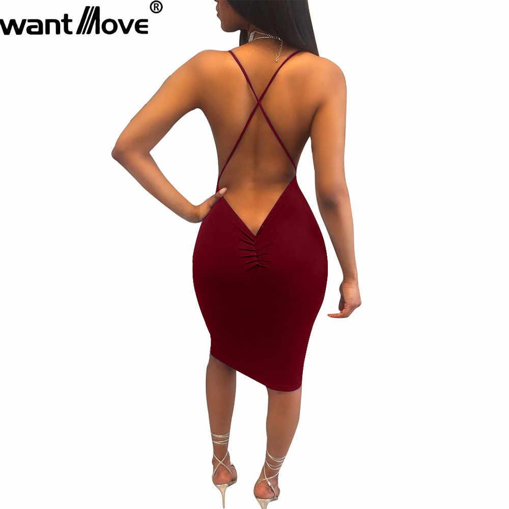 41d1b9dcaa2f3 Wantmove 6 colors women 2019 summer beach dress sexy slim knee-length  dresses night club wear women clothing XD958