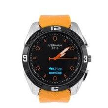 Perdió recordatorio sedentario vervan v8 smartwatch bluetooth impermeable 4.0 reloj soporte para apple iphone android teléfono inteligente reloj