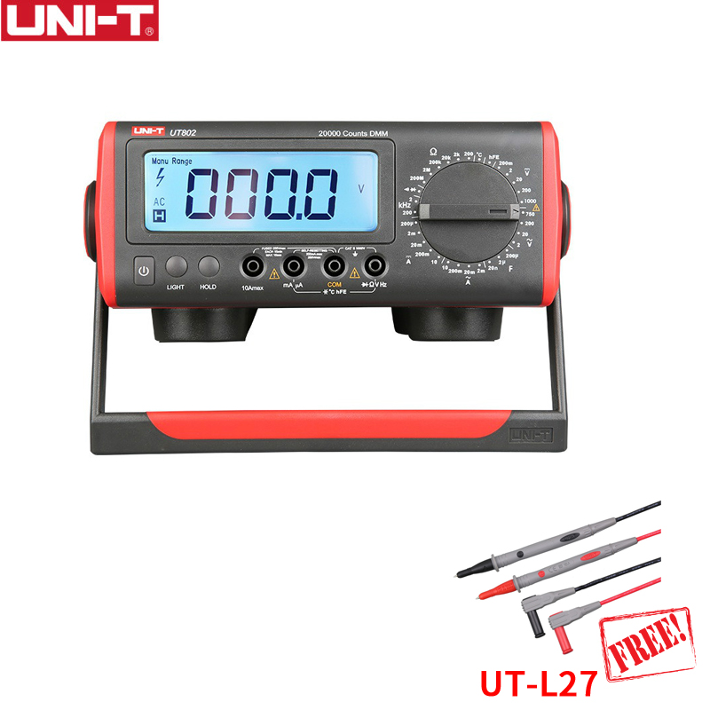 UNI-T UT802 Bench Top Digital Multimeter High Precision Manual Multimeter Resistance Capacitance Frequency Temperature Test victor victory multimeter vc86e 4 1 2 digit precision multimeter frequency capacitance temperature with usb