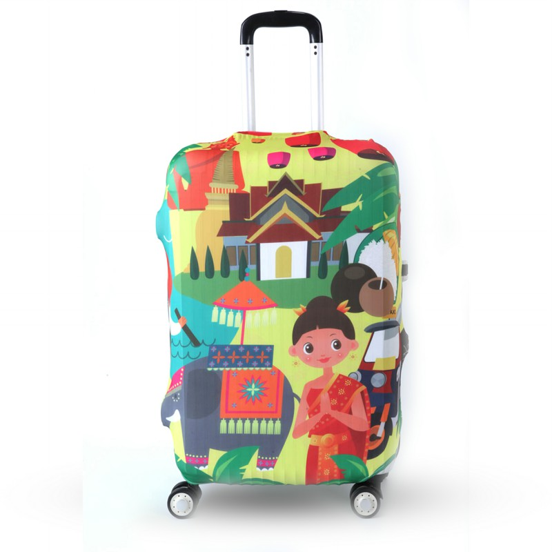 OKOKC Travel Luggage Protective Suitcase Cover Luggage Cover Apply To 19~32 Inch Case Excellent Elastic, Travel Accessories