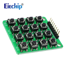 Free shipping  8pin 4*4 4×4 Matrix 16 Keypad Keyboard Breadboard Module 16 Button Mcu for arduino Diy Starter Kit
