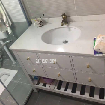 современная раковина | FM0611 напольный резиновый деревянный шкаф для ванной мраморная чаша на столешницу Современный Простой раковина сочетание туалетный столик