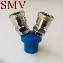 SMV 2 Way Pneumatic Air Quick Connecting Coupler /Self-lock Pipe Fittings
