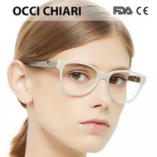 330e4c0b4b6 OCCI CHIARI Fashion Glasses With Clear Lenses 2018 Women Myopia Glasses  Trendy Optical Eyeglasses Eyewear Spectacles W-CELLA
