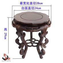 Black catalpa wood vases, flower miniascape of base Solid wood carving household act the role ofing is tasted furnishing