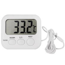 ЖК Макс-мин термометр холодильник, аквариум Кухня электронный цифровой термо-измеритель температуры с зондом датчик кабель