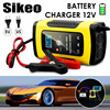 2PC Full Automatic Car Battery Charger 110V To 220V To 12V 6A LCD Smart Fast for Auto Motorcycle Lead-Acid Batteries Charging