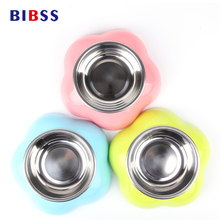 Stainless Steel Eating Pet Cat Puppy Dog Bowl for Animal Drinking Water Pet Cats Dogs Food Dispenser Slow Dog Dish Products
