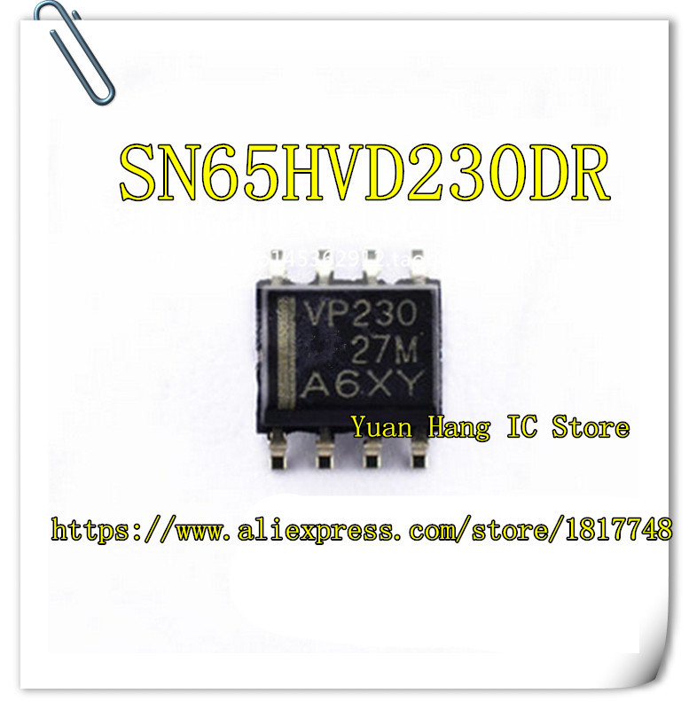 10PCS/LOT SN65HVD230DR SN65HVD230 VP230 SOP-8 Can Bus Transceiver New Original