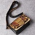 2017 leopard pattern женщины сумочка из натуральной кожи сумка малый натуральная кожа дамы сумки на ремне женщин талии мешок