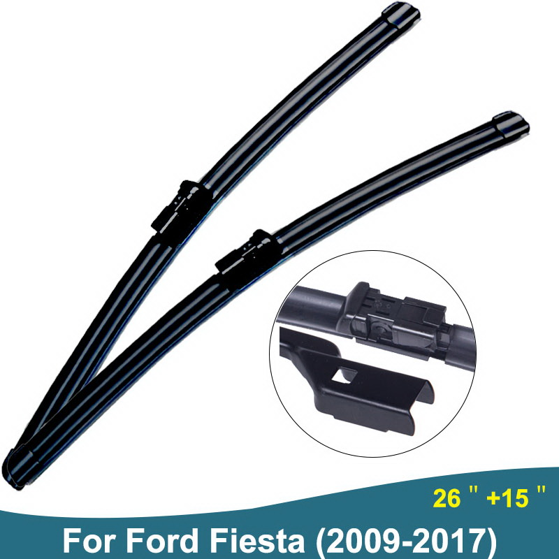 цена на For Ford Fiesta 2011 Auto Windscreen Wiper Blade Rubber Car Accessories Fit Push Button 2009 2010 2012 2013 2014 2015 2016 2017