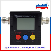 Shipping From Moscow SURECOM SW 102 100 520 Mhz Digital VHF UHF Power SWR Meter For
