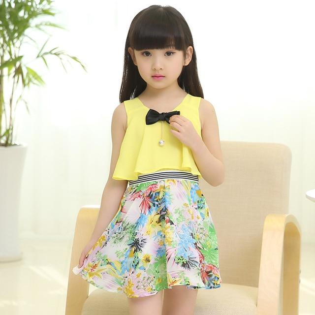 81fd95490425 2017 new summer style 3 13 age girls fashion floral chiffon princess ...