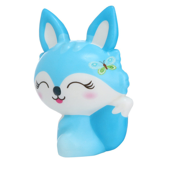 Squishies Toy Kawaii Adorable Fox Toy Slow Rising Cream Scented Stress Relief Toys Gifts kawaii stationery wipes anti-stress E1Stress Relief Toy