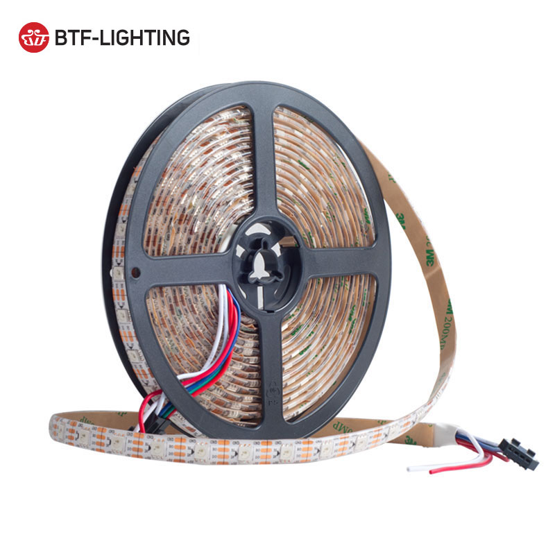 1m/4m/5m WS2813(Dual-signal wires)30/60 leds/m 2813 individually led pixel strip WS2812B Updated Black/White PCB IP30/65/67 DC5V цена
