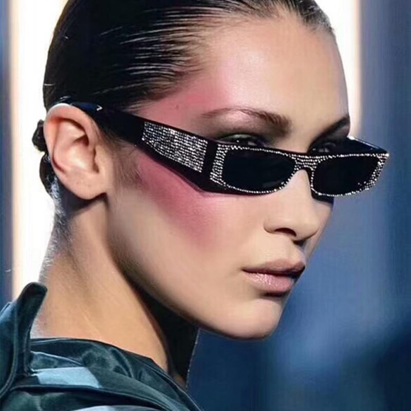 ROYAL FILLE Vintage Carré lunettes de Soleil Femmes Petite Imitation  Diamant Lunettes Femme 2019 Marque De f254649f54d8