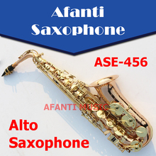Afanti Music Eb tone / Phosphor Bronze Copper / Gold finish Alto Saxophone (ASE-456)
