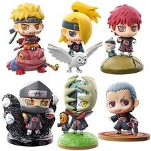 6pcs set Naruto Nidaime Yondaime Godaime Anime Puppets Action Figure PVC Funny Toys Table Desk Decoration