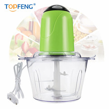 TOPFENG 2L Electric Kitchen Chopper Meat Grinder Shredder Food Chopper Stainless Steel Electric Household Processor Kitchen Tool