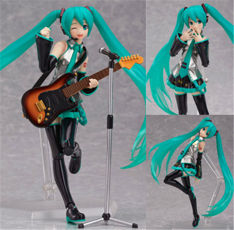 Hatsune Miku Anime Figure Figma 200 Juguetes PVC Action Figure Collectible Brinquedos Model Doll Kids Toys 14cm novelty 14cm can be opened leather sexy anime figure sex toy pvc action figure collectible figuras anime model toys funny toys