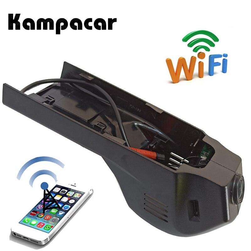 Kampacar Wifi For Cam Car Dvr BMW 3 Series 2015 2016 2017 Car Black Box WiFi DVR Dual Dash Camera Driving Video Recorder For BMW