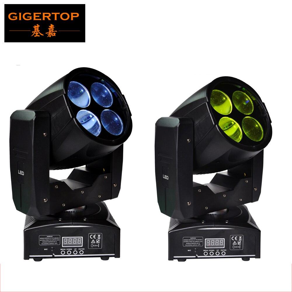 Freeshipping 2XLOT 55W Mini LED Super Bright Sharpy Beam High Power 4*10W White Rotating RYB Color Wheel LED Individual Control