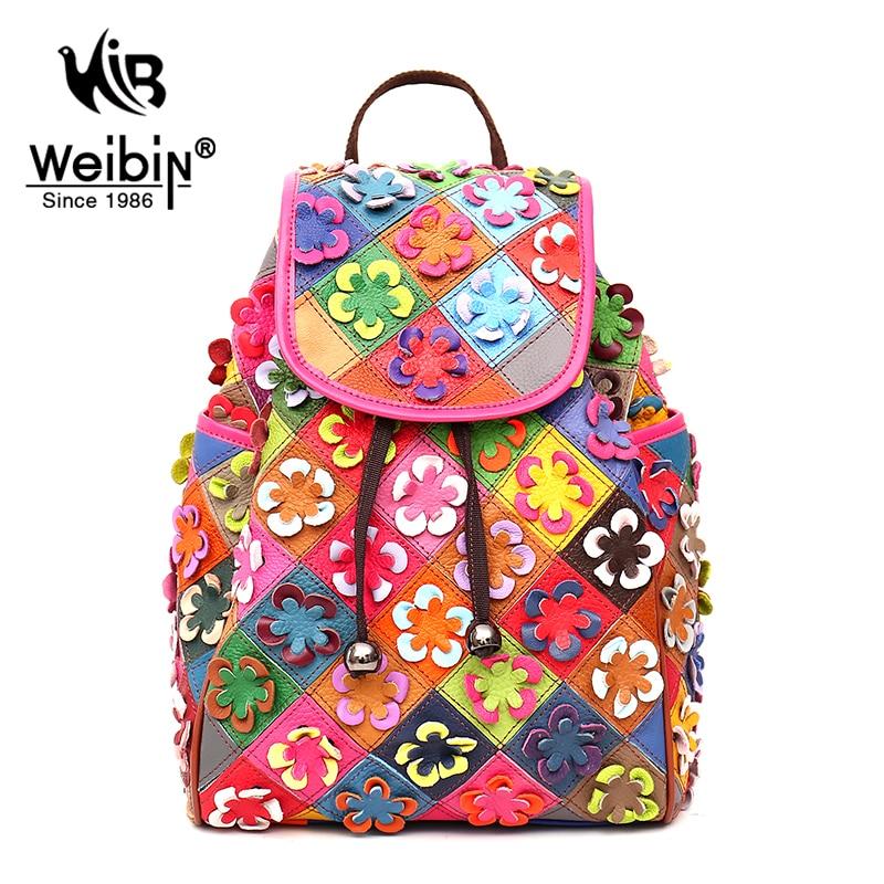 100% Genuine Leather Women Backpacks Ladies Fashion Casual Backpack For Teenage Girls School Drawstring Bag Aac A Dos Mochila