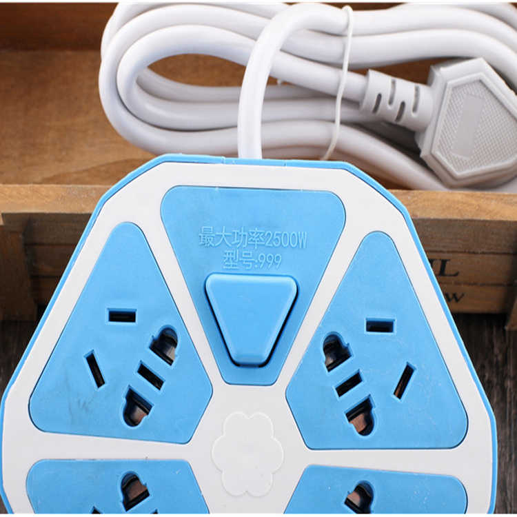 Listwa zasilająca z USB 4 gniazda zasilania + 2USB gniazda ochrona przeciwprzepięciowa rozszerzenie Adapter 1.5M kabel gniazdo USB
