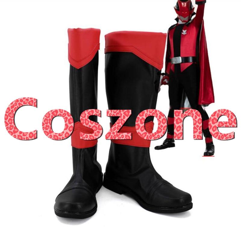 The Red Sentai Ranger Cosplay Shoes Boots Kaitou Sentai Lupinranger VS Keisatsu Sentai Patranger Cosplay Costume Accessories