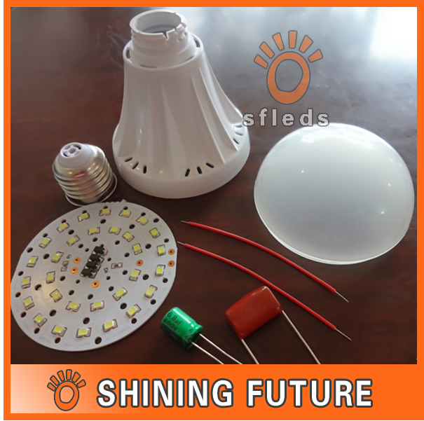 DIY 9W LED Bulb Shell Kit E27 High Brightness/ Led Lighting Accessories