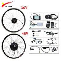 Jueshuai Electric Bike Conversion Kit 36V 250W 48V 500W 1000W LCD eBike Kit for 20inch 26inch 700C 28inch Front Rear Wheel Motor