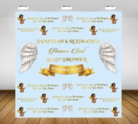custom heaven sent baby shower sent royal wing backdrop High quality Computer print party photography backgrounds