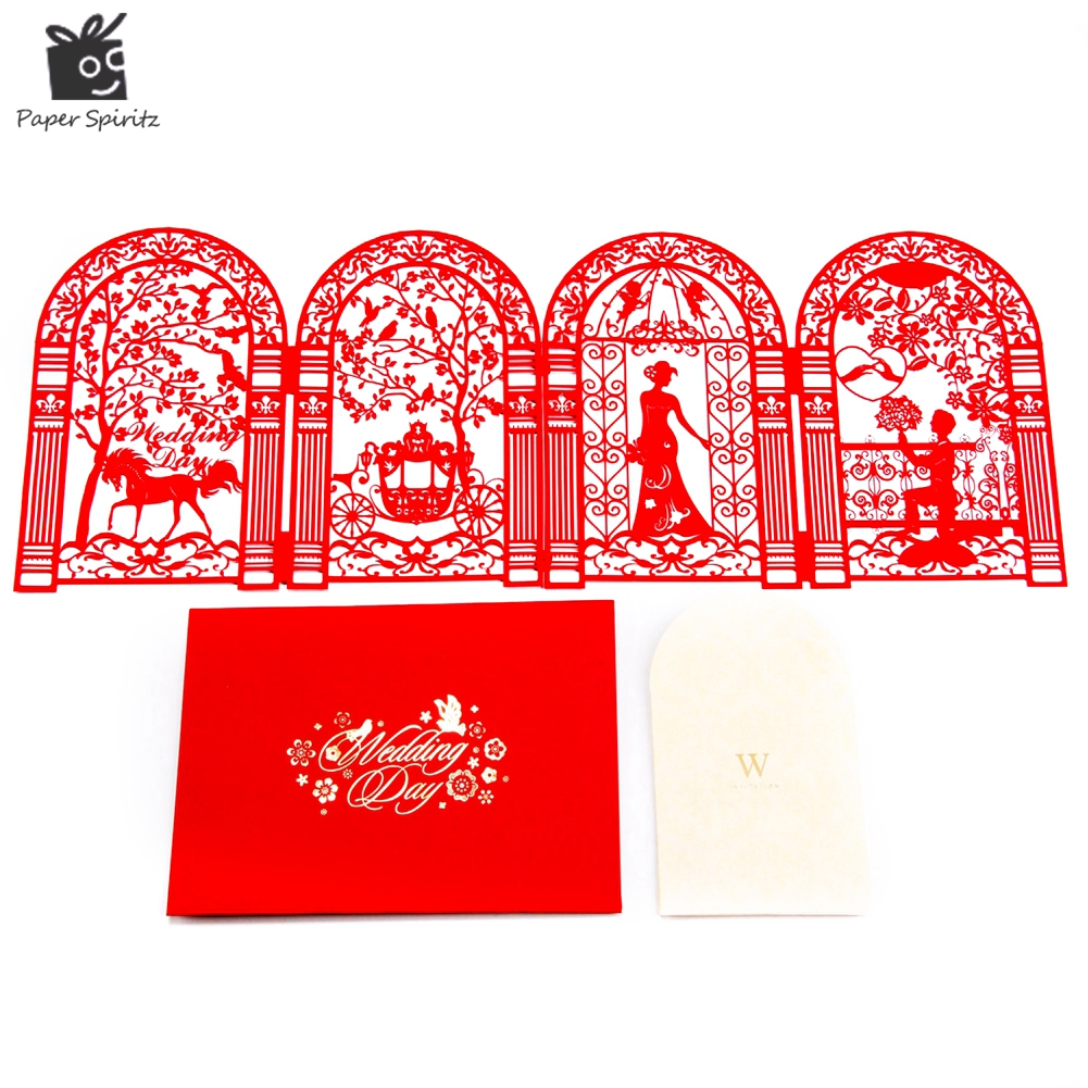 Wedding Invitation Cards Laser Cut Anniversary Decoration Custom ...