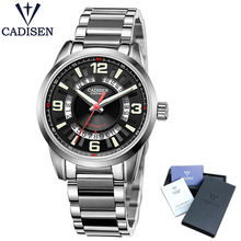 Watches Men Cadisen Brand Full Steel Classic Fashion Army Military Watches Men's Automatic Sports Wrist Watch relogio masculino