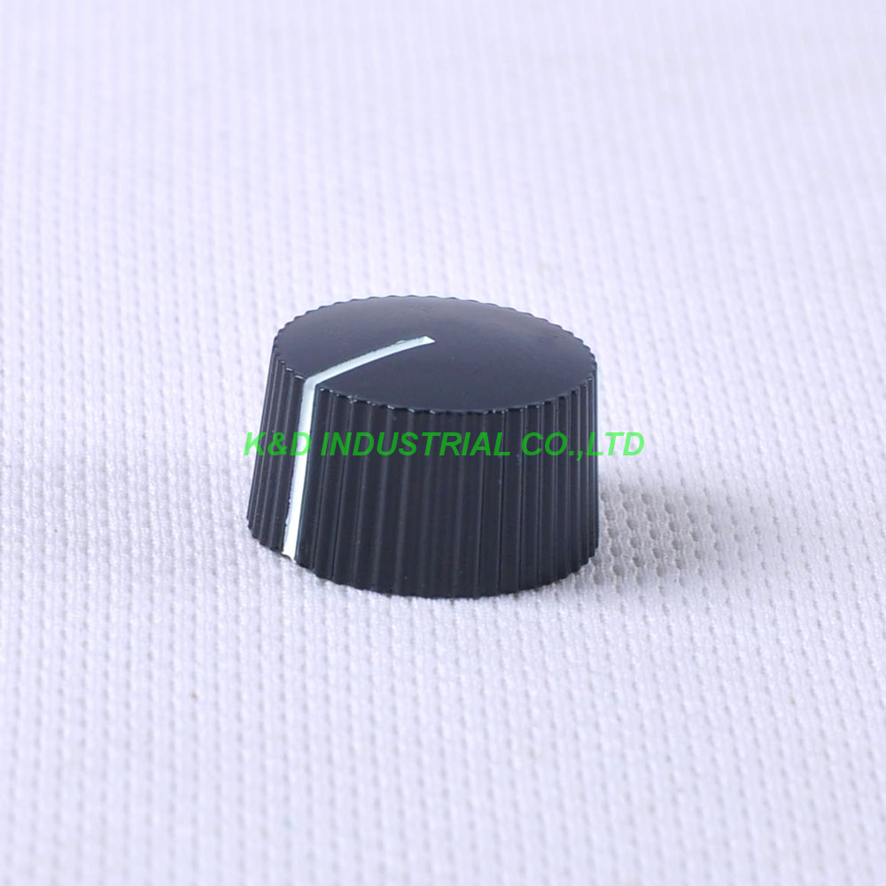 10pcs Colorful Rotary Vintage Control Plastic Black Knob 21x12mm for 6.35mm Shaft Guitar