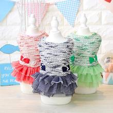 Winter Bow Princess Lace Cute Dog Dress Pet Products Clothes For Dog Pet Dog Clothing Puppy Thick Downs Pet Apparel XS-XL
