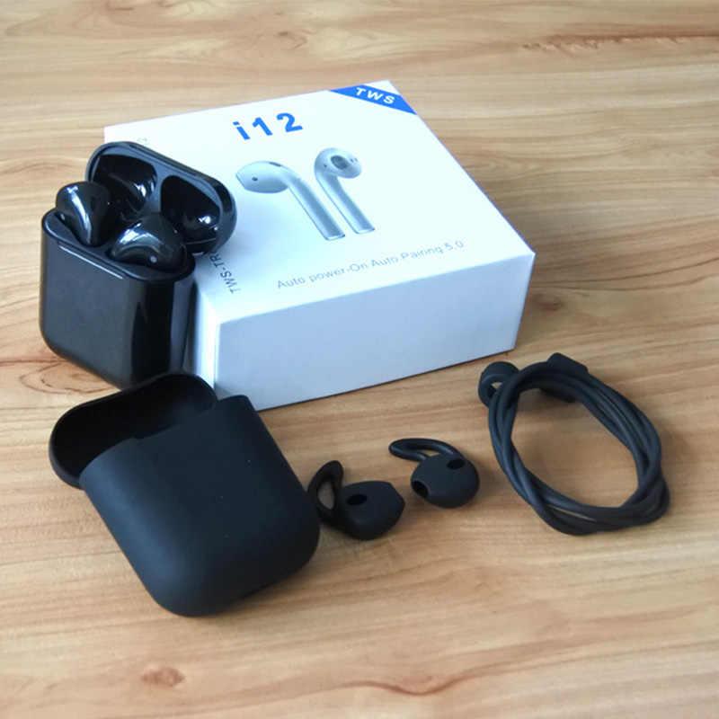 Controle de toque i12 tws 3D super bass Sem Fio Bluetooth 5.0 Fones De Ouvido Fones De Ouvido pk tws tws i10 i20 i30 i60 TWS para xiaomi iphone