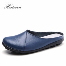 Hosteven Women Shoes Soft Genuine Leather Flats Fashion Casual Ladies Driving Loafers Moccasins Large Size 35-44