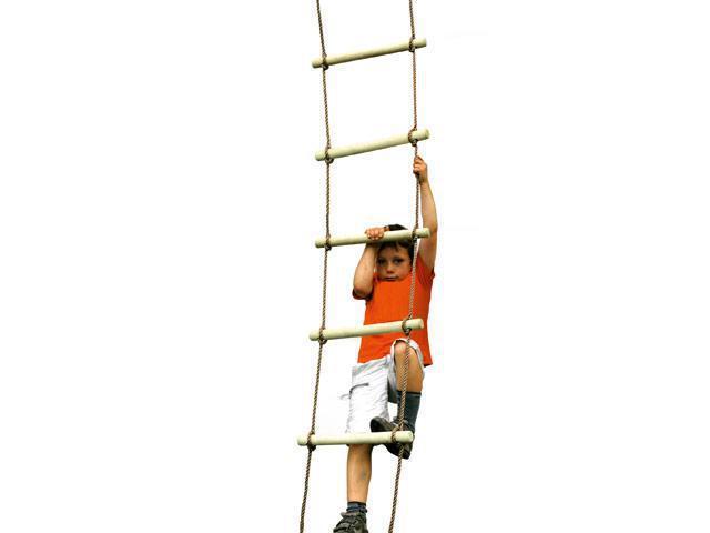 bohs cinco palos de madera escalera de cuerda de escalada juguetes nios treehouse o barco