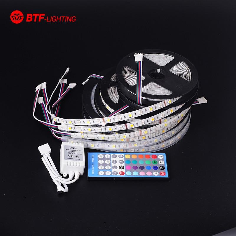 5M 300led RGBW RGBCW RGBWW 5050 SMD Mied Rgb Led Strip DC12V Flexible Strip Light RGB + Warm/Cool White  With IR Controller