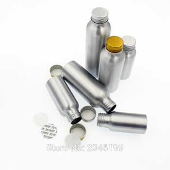 100ML/120ML 30pcs/lot Empty Aluminum Bottle with Screw Cap, Container Bottle for Cosmetic Packaging