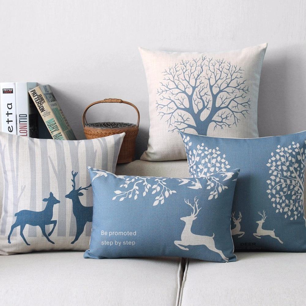Bear 05 Coton et lin Hengjiang Housse de coussin d/écorative pour canap/é Motif animaux nordiques 45 x 45 Centimeters