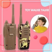 Интерком детская рация 2 шт детские игрушки дети Домашняя деятельность двухсторонние радиостанции ABS Кемпинг переговорные Детские рации