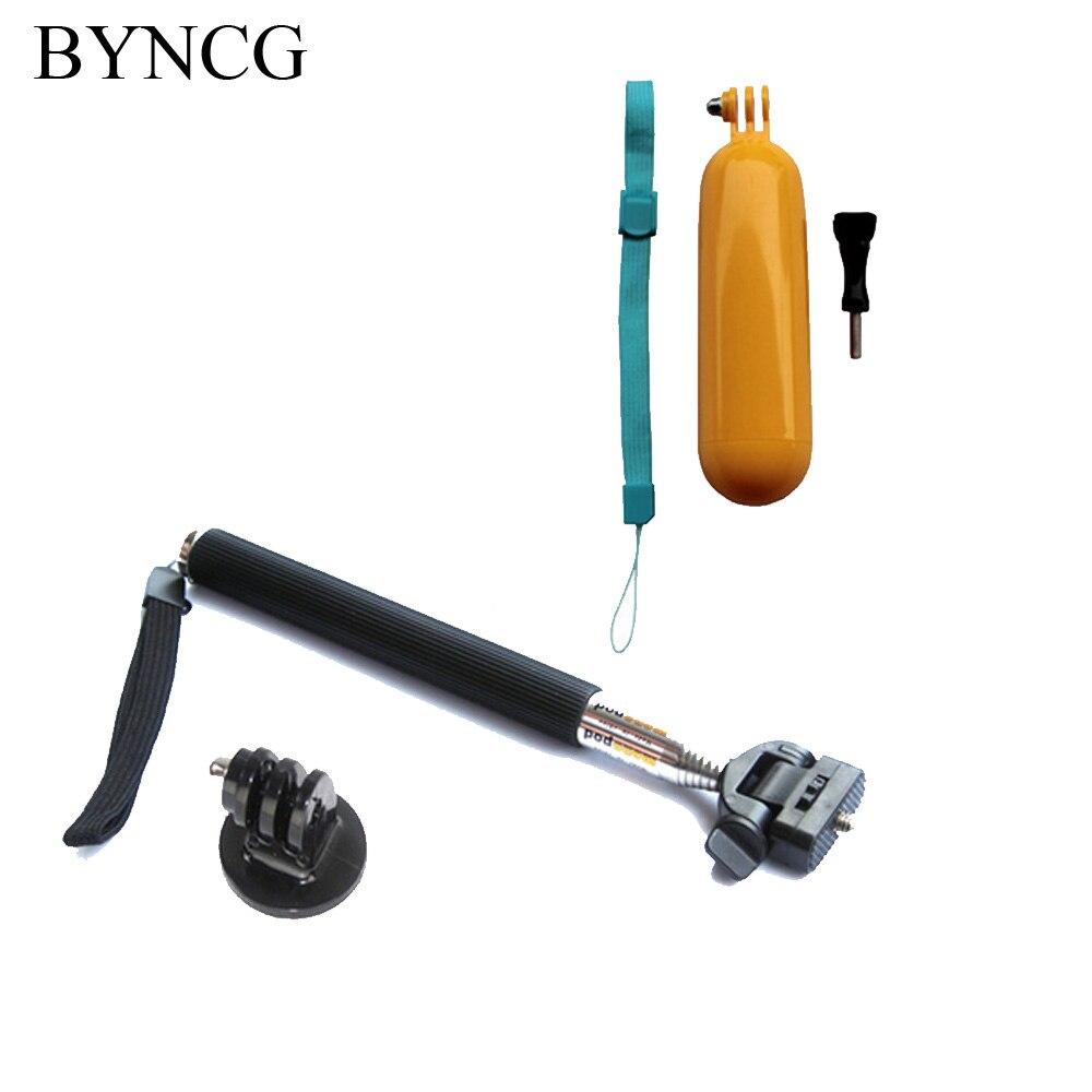 BYNCG for GoPro Monopod Selfie Sticks Floaty GoPro Accessories Mount for Go Pro Hero 1234 Hero3 Hero4 Sj4000 Camera Xiaomi Yi