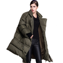 New Plus Size Winter Jacket Women Winter Down Coat Long Black Khaki Army Green Women's Loose Parkas Mujer Thick Fringed Coats