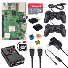 New Raspberry Pi 3 Model B+ Plus Kit + 2 Game Controller +32G SD Card + Case + 3A Switch Power Supply + HDMI Cable for Retropie(China)
