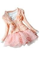 ABWE Melhor Venda Meninas Bonitas Casual Casacos Cardigan Vestido Tutu Crianças Bebê Casaco + Vestido Meninas Vestido Rosa 12